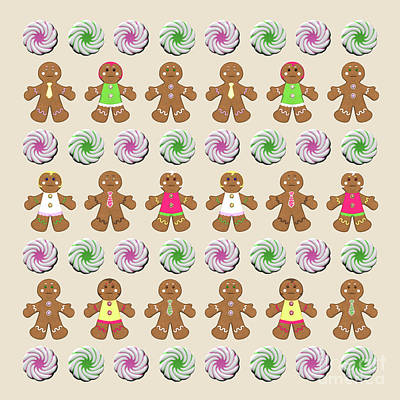 Digital Art - Gingerbread People Cookies by Methune Hively