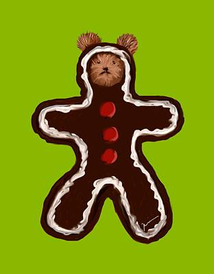 Painting - Gingerbread Teddy by Jean Pacheco Ravinski