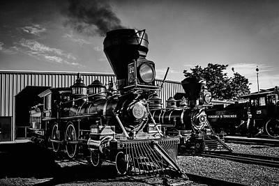 Photograph - Gingerbread Trains In Black And White by Garry Gay
