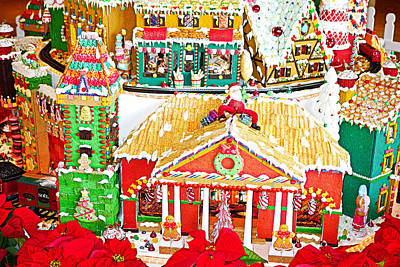 Photograph - Gingerbread Village Study 1 by Robert Meyers-Lussier