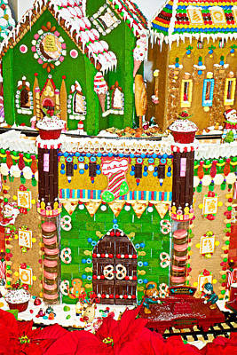 Photograph - Gingerbread Village Study 2 by Robert Meyers-Lussier