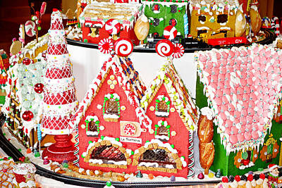 Photograph - Gingerbread Village Study 3 by Robert Meyers-Lussier