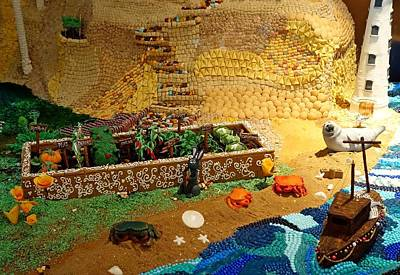 Photograph - Gingerbread Village Study 4 by Robert Meyers-Lussier