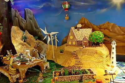 Photograph - Gingerbread Village Study 5 by Robert Meyers-Lussier