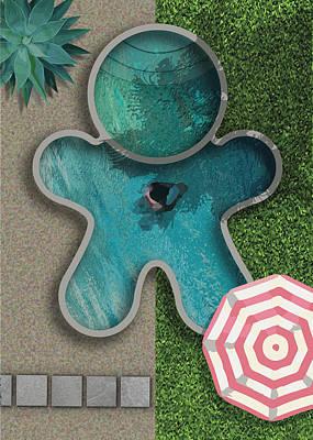 Digital Art - Gingerman Pool by Stan  Magnan