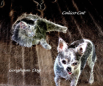 Photograph - Gingham Dog And Calico Cat by Aliceann Carlton