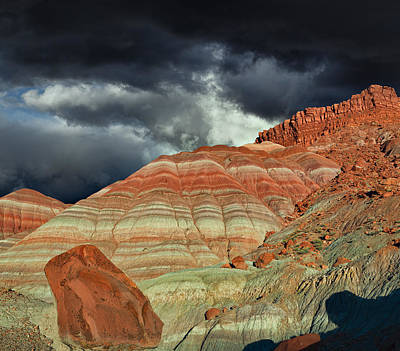 Triassic Photograph - Gingham Skirts Butte  by Kathleen Bishop