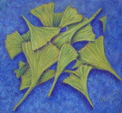 Pastel - Gingko Flurry 2 by Joann Renner