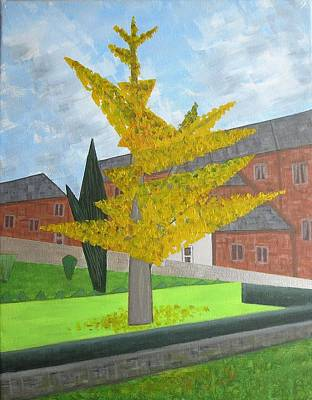 Painting - Gingko Tree At St. James Church by Tamara Savchenko