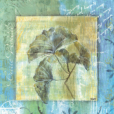 Postcard Painting - Ginkgo Spa 1 by Debbie DeWitt