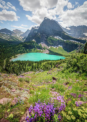 Photograph - Ginnell Lake Overlook // Glacier National Park  by Nicholas Parker