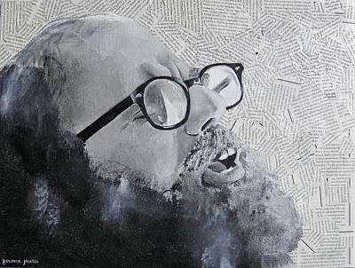 Mosaic-collage Mixed Media - Ginsberg by Ben Jackson