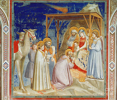 Giotto: Adoration Art Print by Granger