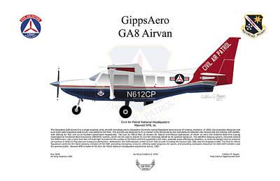 Digital Art - Gippsaero Ga8 Airvan Cap by Arthur Eggers