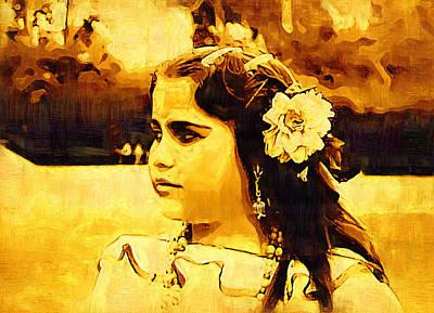 Gitano Digital Art - Gipsy by Madalena Lobao-Tello