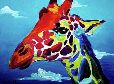 Giraffe Painting - Giraffe - The Air Up There by Alicia VanNoy Call