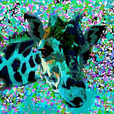Painting - Giraffe Abstract by Saundra Myles