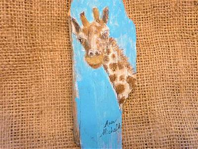 Mixed Media - Giraffe  by Ann Michelle Swadener