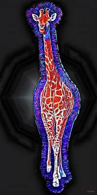 Giraffe Aura Art Print