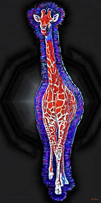 Giraffe Mixed Media - Giraffe Aura by Michael Durst