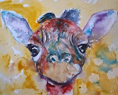 Giraffe Painting - Giraffe Baby by Emma Kaufmann