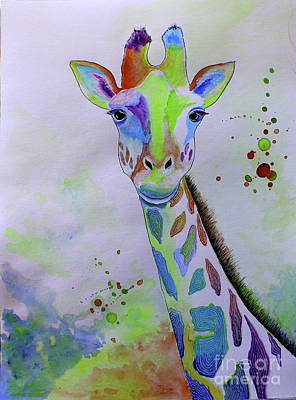 Painting - Giraffe by Barbara Teller