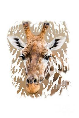 Hoodie Mixed Media - Giraffe Clothing And Wall Art by Linsey Williams