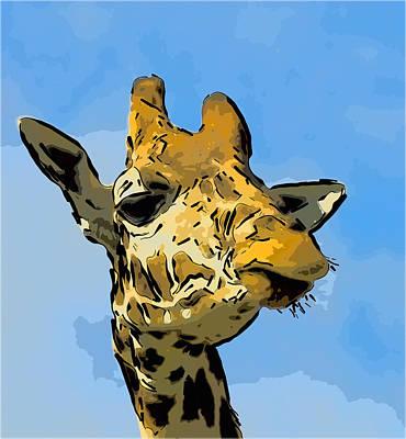 Giraffe Art Print by Gareth Davies