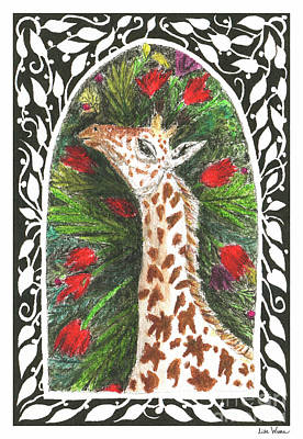 Painting - Giraffe In Archway by Lise Winne