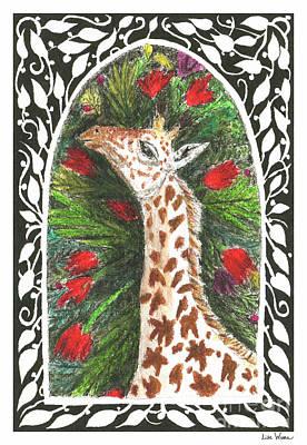 Giraffe In Archway Art Print