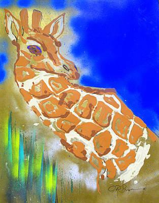 Art Print featuring the painting Giraffe by J R Seymour