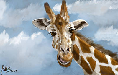 Digital Art - Giraffe by Jonathan Carr