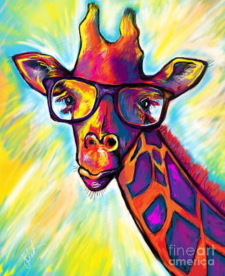 Giraffe Art Print by Julianne Black