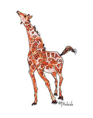 Painting - Giraffe by Kathleen McElwaine