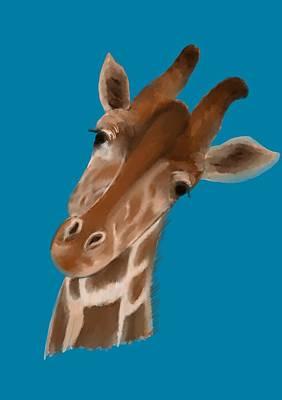 Mixed Media - Giraffe by Lisa Stanley