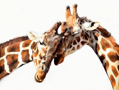 Photograph - Giraffe Love by Athena Mckinzie