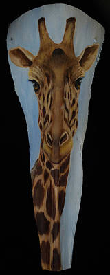 Painting - Rothchild's Giraffe - Endangered by Nancy Lauby