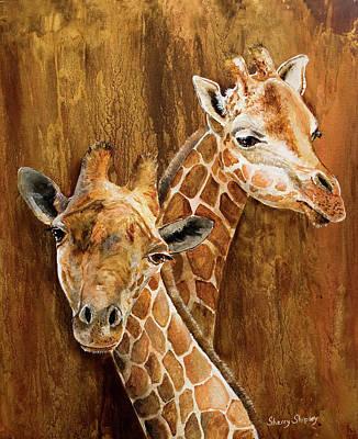 Painting - Giraffe Pair by Sherry Shipley