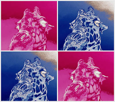 Photograph - Giraffe Pop Art by Elyza Rodriguez