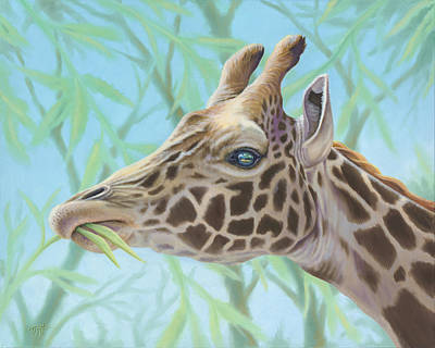 Painting - Giraffe Portrait by Tish Wynne