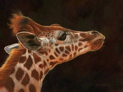 Painting - Giraffe Profile by David Stribbling
