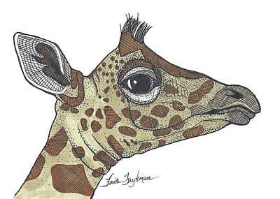 Giraffe, Profile Art Print by Faith Frykman