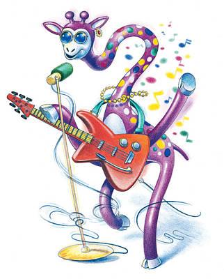 Giraffe Rock Original by Todd Baxter