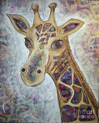 Mixed Media - Giraffe by Sandra FM Wallace