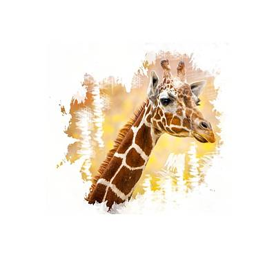 Photograph - Giraffe T-shirt by David Millenheft