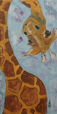 Giraffe Tall Art Print by Terri Einer