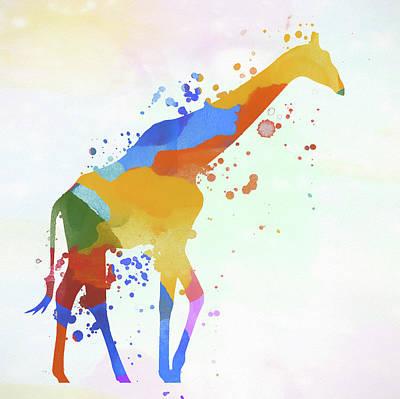 Painting - Giraffe Watercolor by Dan Sproul