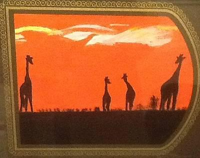 Painting - Giraffes by Audrey Pollitt