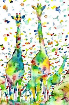 Painting - Giraffes Galore.2 by Fabrizio Cassetta