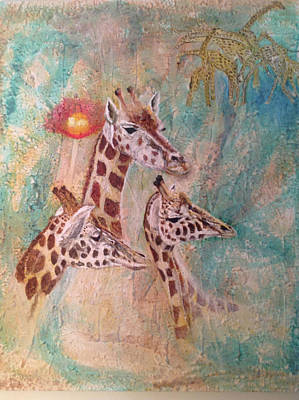 Giraffes Original by Toni Willey